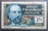 Poštovní známka Francouzská Rovníková Afrika 1940 Victor Liotard přetisk Mi# 134 b