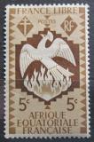 Poštovní známka Francouzská Rovníková Afrika 1941 Fénix Mi# 163