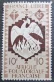 Poštovní známka Francouzská Rovníková Afrika 1941 Fénix Mi# 175