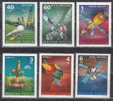 Poštovní známky Maďarsko 1977 Průzkum vesmíru Mi# 3214-19