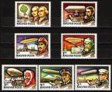 Poštovní známky Maďarsko 1977 Historie letectví Mi# 3230-36