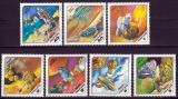 Poštovní známky Maďarsko 1978 Průzkum vesmíru v budoucnosti Mi# 3265-71
