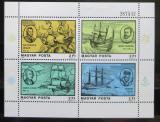 Poštovní známky Maďarsko 1978 Mořeplavci Mi# Block 132