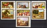 Poštovní známky Maďarsko 1979 Umění, koně Mi# 3362-68