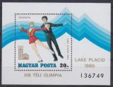 Poštovní známka Maďarsko 1979 ZOH Lake Placid Mi# Block 140