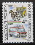Poštovní známka Maďarsko 1987 Záchranáři Mi# 3896