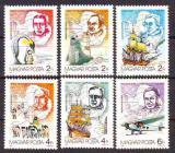 Poštovní známky Maďarsko 1987 Průzkum Antarktidy Mi# 3907-12