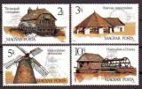 Poštovní známky Maďarsko 1989 Mlýny Mi# 4028-31