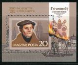 Poštovní známka Maďarsko 1983 Martin Luther Mi# Block 165