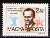 Poštovní známka Maďarsko 1983 Jenö Hamburger, lékař Mi# 3611
