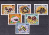Poštovní známky Maďarsko 1980 Hmyz a květiny Mi# 3405-10