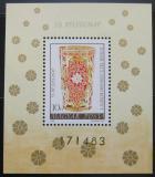 Poštovní známka Maďarsko 1980 Skleněný pohár Mi# Block 144