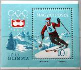 Poštovní známka Maďarsko 1964 ZOH Innsbruck Mi# Block 40
