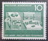 Poštovní známka Německo 1961 Telefon, 100. výročí Mi# 373