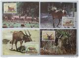 Maxikarty Mali 1986 Antilopa losí, WWF 040 Mi# 1078-81