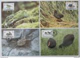 Maxikarty Tristan da Cunha 1991 Ptáci, WWF 118 Mi# 513-16