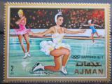 Poštovní známka Adžmán 1970 ZOH Sapporo, krasobruslení Mi# 663