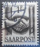 Poštovní známka Sársko 1948 Podání rukou Mi# 241
