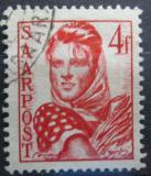 Poštovní známka Sársko 1948 Dívka s otýpkou Mi# 244