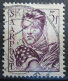 Poštovní známka Poštovní známka Sársko 1948 Dívka s otýpkou Mi# 245