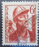 Poštovní známka Sársko 1948 Horník Mi# 246