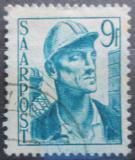 Poštovní známka Sársko 1948 Horník Mi# 247