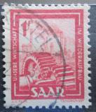 Poštovní známka Sársko 1949 Těžký průmysl Mi# 274