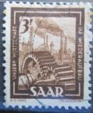 Poštovní známka Sársko 1951 Těžký průmysl Mi# 275
