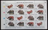 Poštovní známky Indonésie 1996 Nosorožci, WWF Mi# 1648-51