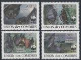 Poštovní známky Komory 2009 Netopýři, WWF Mi# 2212-15