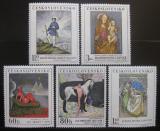 Poštovní známky Československo 1968 Umění Mi# 1839-43 Po# 1729-33