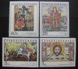 Poštovní známky Československo 1970 Slovenské ikony Mi# 1976-79 Po# 1864-74