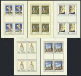Poštovní známky Československo 1971 Umění Mi# 2032-36 Bogen Po# 1922-26 PL