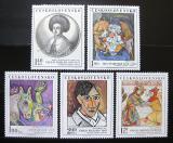 Poštovní známky Československo 1972 Umění Mi# 2105-09 Po# 1993-97