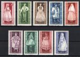 Poštovní známky Maďarsko 1963 Lidové kroje Mi# 1954-62