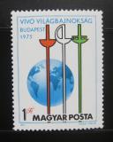 Poštovní známka Maďarsko 1975 MS v šermu Mi# 3054