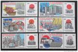 Poštovní známky Československo 1975 Průmyslové stavby Mi# 2285-90 Po# 2167-72