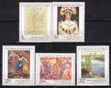Poštovní známky Československo 1975 Umění Mi# 2294-98 Po# 2176-80