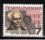 Poštovní známka Československo 1987 J. E. Purkyně Mi# 2927 Po# 2811
