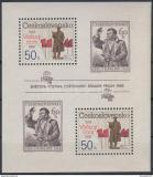 Poštovní známky Československo 1988 Výročí Mi# Block 77 A