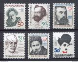 Poštovní známky Československo 1989 Osobnosti Mi# 2988-93 Po# 2879-84