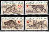 Poštovní známky Československo 1990 Savci Mi# 3063-66 Po# 2955-58