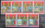 Poštovní známky Rovníková Guinea 1975 Velikonoce, architektura Mi# 527-33