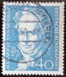 Poštovní známka Německo 1959 Alexander von Humboldt Mi# 309