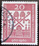 Poštovní známka Německo 1960 Katedrála Hildesheim Mi# 336