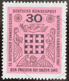 Poštovní známka Německo 1967 Setkání protestantů Mi# 536