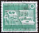 Poštovní známka Německo 1961 První telefon Mi# 373