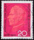 Poštovní známka Německo 1966 Kardinál von Galen Mi# 505
