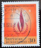 Poštovní známka Německo 1968 Lidská práva Mi# 575