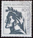 Poštovní známka Německo 1971 Dante Alighieri Mi# 693